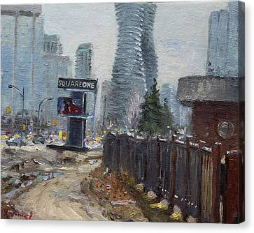 Square One Mississauga Canvas Print by Ylli Haruni