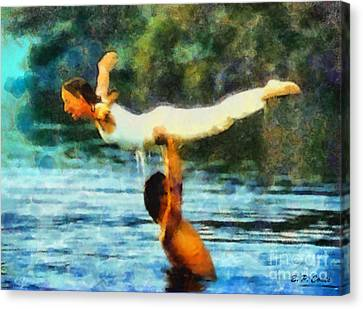 Dirty Dancing Canvas Print by Elizabeth Coats