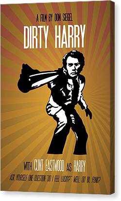 Dirty Harry Poster Clint Eastwood Quote - Do You Feel Lucky? Well, Do Ya, Punk? Canvas Print by Beautify My Walls