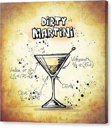 Dirty Martini  Canvas Print by Movie Poster Prints