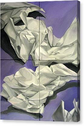 Discards Canvas Print by Julie Orsini Shakher