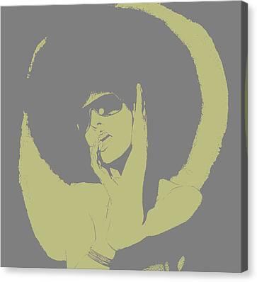 Disco Green Canvas Print by Naxart Studio