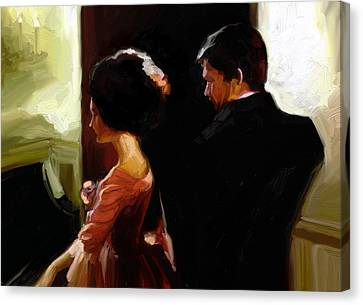 Discreet Whisper Canvas Print by Stuart Gilbert