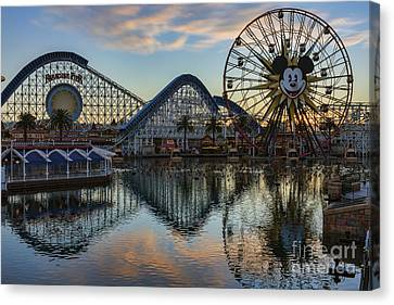 Disney California Adventure Reflections Canvas Print by Eddie Yerkish