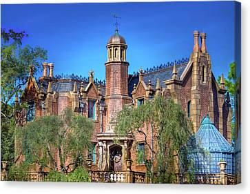 Disney World Haunted Mansion  Canvas Print by Mark Andrew Thomas