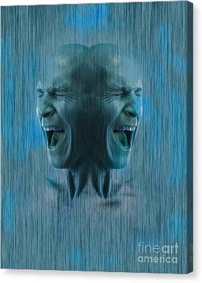 Dissociative Identity Disorder Canvas Print by George Mattei