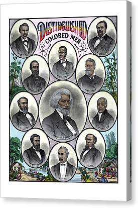 Distinguished Colored Men Canvas Print by War Is Hell Store