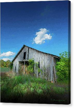 Distress Barn Canvas Print by Marvin Spates