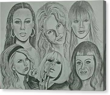 Divas Now Canvas Print by Sandra Valentini