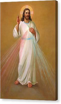 Divine Mercy - Divina Misericordia Canvas Print by Svitozar Nenyuk