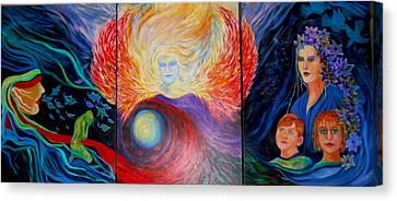 Divine Spirit Canvas Print by Carolyn LeGrand