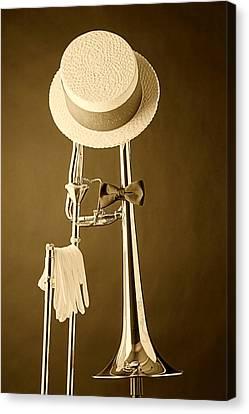 Dixieland Trombone Canvas Print by M K  Miller