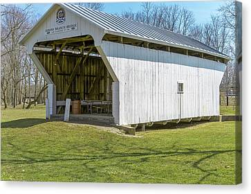 Dixon Branch  Covered Bridge  Canvas Print by Jack R Perry