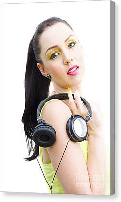 Dj Girl Canvas Print by Jorgo Photography - Wall Art Gallery