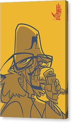 Dmc Skeleto Canvas Print by Nelson Garcia