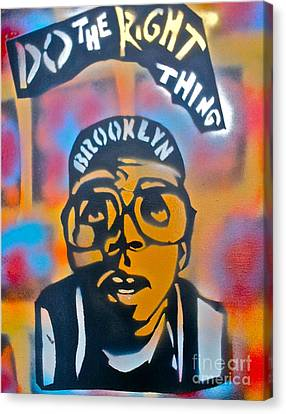 Do The Right Thing Canvas Print by Tony B Conscious