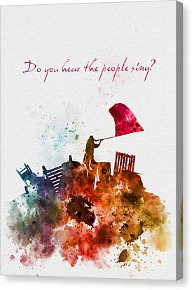 Do You Hear The People Sing? Canvas Print by Rebecca Jenkins