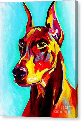 Doberman - Prince Canvas Print by Alicia VanNoy Call