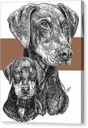 Doberman Uncropped Canvas Print by Barbara Keith