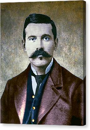 Doc Holliday Painterly Canvas Print by Daniel Hagerman