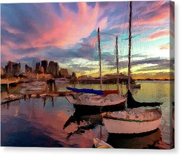Dock Of The Bay  Canvas Print by David Dehner