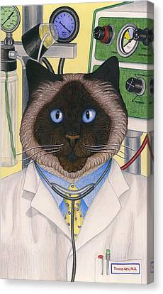 Doctor Cat Canvas Print by Carol Wilson