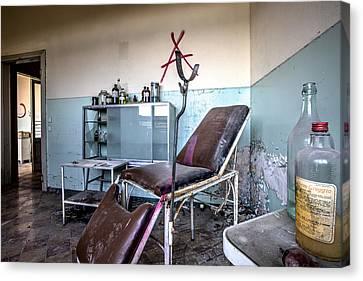 Doctor Chair Awaits Patient - Urbex Canvas Print by Dirk Ercken