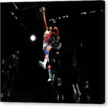 Doctor J Over The Top Canvas Print by Brian Reaves