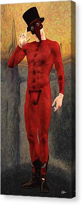 Doctor Red Canvas Print by Quim Abella