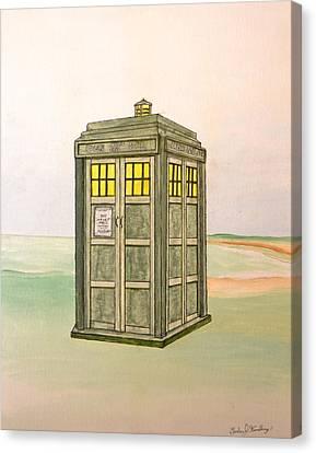 Doctor Who Tardis Canvas Print by Gordon Wendling