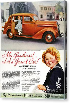 Dodge Automobile Ad, 1936 Canvas Print by Granger