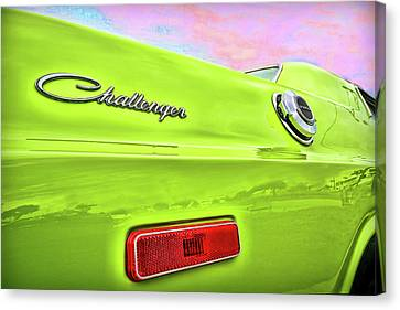 Dodge Challenger In Sublime Green Canvas Print by Gordon Dean II