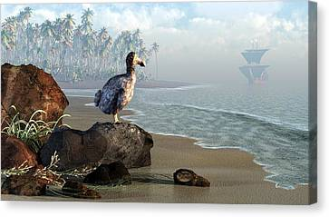 Dodo Afternoon Canvas Print by Daniel Eskridge
