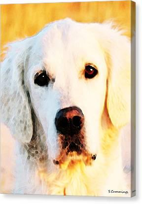 Dog Art - Golden Moments Canvas Print by Sharon Cummings