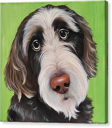 Dog Beards Rule Canvas Print by Lauren Hammack