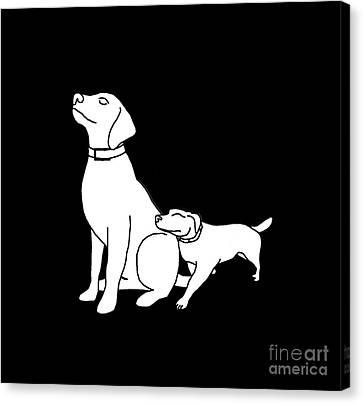 Dog Love Tee Canvas Print by Edward Fielding