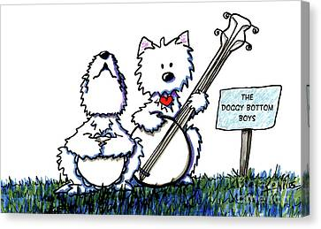 Doggy Bottom Boys Canvas Print by Kim Niles