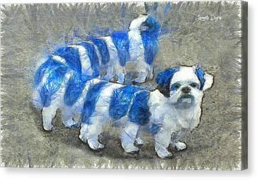 Dogworm - Pa Canvas Print by Leonardo Digenio