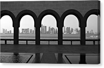 Doha Skyline From Museum Canvas Print by Gregory T. Smith
