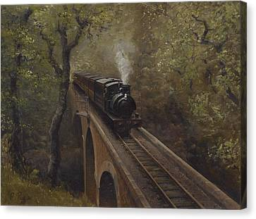 Dolgoch Viaduct Canvas Print by Richard Picton