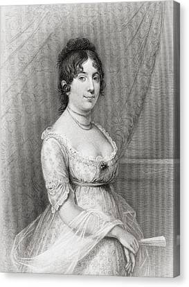Dolley Payne Todd Madison 1768 To 1849 Canvas Print by Vintage Design Pics