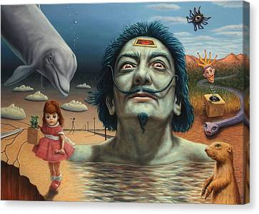Dolly In Dali-land Canvas Print by James W Johnson