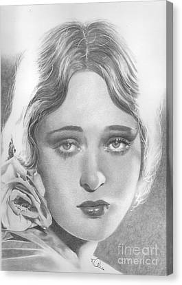 Dolores Costello Canvas Print by Karen  Townsend