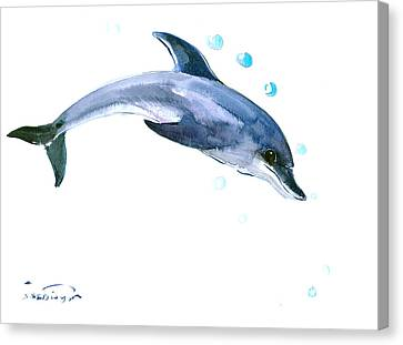Dolphin Canvas Print by Suren Nersisyan