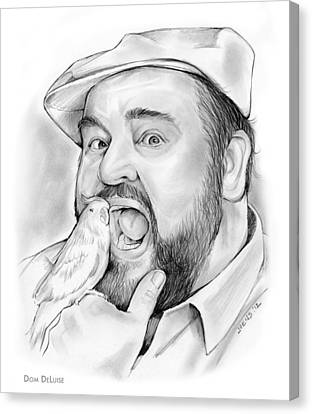 Dom Deluise Canvas Print by Greg Joens