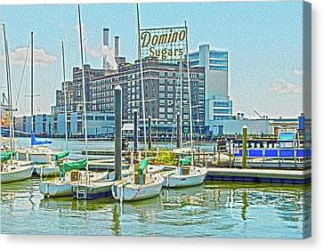 Domino Sugars Blue Sky  Canvas Print by Chet Dembeck