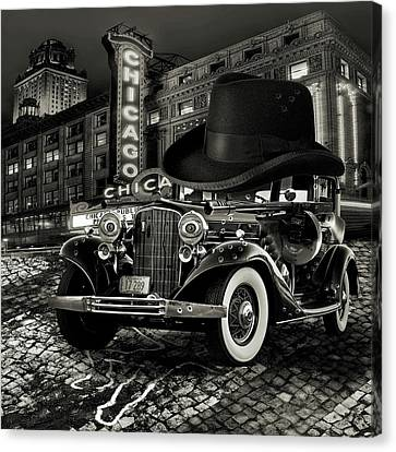 Don Cadillacchio Black And White Canvas Print by Marian Voicu