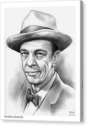 Don Knotts Canvas Print by Greg Joens