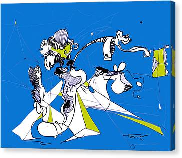 Don Quixote  Canvas Print by Tome Caupers