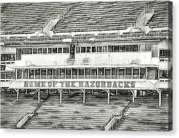 Donald W. Reynolds Razorback Stadium Canvas Print by JC Findley